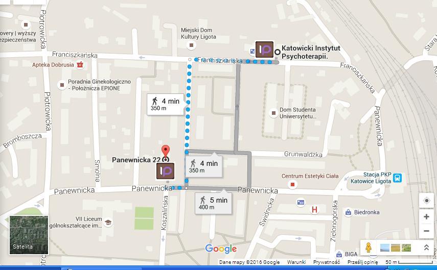 mapka trasa do nowej sali